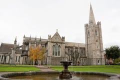 St. Patrick's Cathedral. Dublin, Ireland. Saint Patrick Cathedral and park in Dublin, Ireland Royalty Free Stock Image