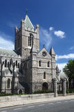 St. Patrick's Cathedral in Dublin, Ireland. St. Patrick's Cathedral and blue sky in Dublin, Ireland, vertical Stock Image
