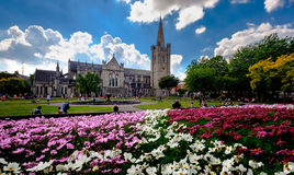 St. Patrick's Cathedral. Dublin, Ireland. August 18, 2015 Royalty Free Stock Photo