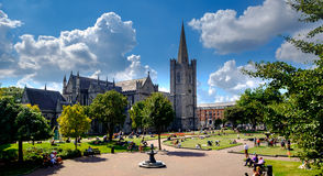 St Patrick's Cathedral. Dublin, Ireland. August 18, 2015. St Patrick's Cathedral located in the Liberties area of Dublin. Jonathan Swift was Dean of Saint Stock Photography