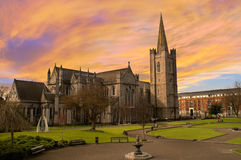 St. Patrick's Cathedral in Dublin, Ireland. Stock Photography
