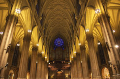 St. Patrick's Cathedral Insides New York City. Saint Patrick's Cathedral, Inside, Arches, Stained Glass, New York City royalty free stock images