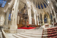 St patrick`s cathedral - New York stock photography