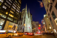 St. Patrick's Cathedral in New York City Stock Image