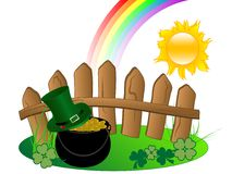 St.Patrick's cauldron Royalty Free Stock Image