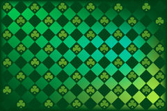 St Patrick's clover  argyle. Argyle pattern with clovers in St. Patty's favorite shades of green Royalty Free Stock Image
