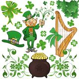 St. Patrick's Collect royalty free stock photos