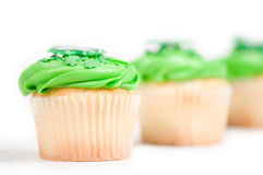 St-Patrick's cup cakes Stock Photography