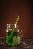 St Patrick ` s dag groen bier stock fotografie