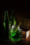 St Patrick ` s dag groen bier royalty-vrije stock fotografie