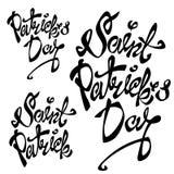 St Patrick s Dag het Van letters voorzien Royalty-vrije Stock Afbeelding