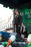 St Patrick s dag i Bucharest Arkivbild