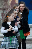 St Patrick s dag i Bucharest Royaltyfria Foton