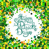 St Patrick s dagbokstäver stock illustrationer