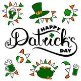 St Patrick `s dagkaart stock illustratie
