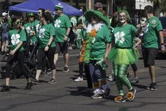 St Patrick ` s Dagparade in Phoenix, Arizona Royalty-vrije Stock Fotografie