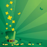 St. Patrick's Day. Decorations on green background Stock Photos