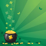 St. Patrick's Day. An illustration of a St. Patrick's Day  a green background Stock Image