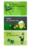 St. Patrick's Day. Pattern mini cards vector illustration