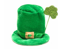 St Patrick's Day. A single St Patricks Day hat isolated on white Royalty Free Stock Photo