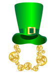 St. Patrick's Day. Hat and symbolic gold coins Royalty Free Stock Image