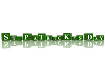St. Patrick's Day in 3d cubes Stock Images