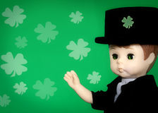 St. Patrick's Day. Doll with copy room for text stock illustration