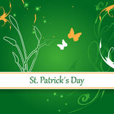 St patrick´s day. Abstract designed st patrick´s day greeting card Stock Image