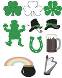 St. Patrick's Day Artwork. Several St. Patrick's Day symbols ideal for promotions, invitations, and greeting cards Stock Photography