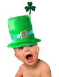 St Patrick's day baby Royalty Free Stock Image