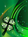 St. Patrick's Day Background. Vector Abstract shamrock Diamond with background. St. Patrick's Day Background Royalty Free Stock Images