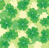 St. Patrick's day background. With clover Stock Image