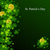 St. Patrick's day background. In green and black colors Royalty Free Stock Image