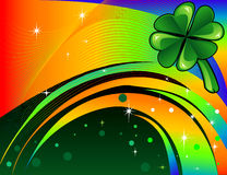 St. Patrick's Day Background 2. Vector Abstract shamrock Diamond with background. St. Patrick's Day Background Stock Images