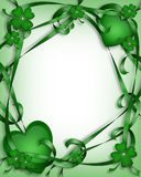 St Patrick's Day Background. 3D Illustration for St Patrick's Day Card, background, border or frame Stock Image