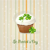 St. Patrick's Day background with cake-EPS10. St. Patrick's Day background with cake Royalty Free Stock Image