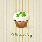 St. Patrick's Day background with cake-EPS10. St. Patrick's Day background with cake Royalty Free Stock Photo