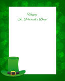 St Patricks day background with card Stock Photo