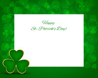 St Patricks day background with card Stock Image