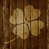 St. Patrick`s Day Background or Card on Wooden Background. Royalty Free Stock Image