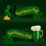 St. Patrick's day background. Cartoon vintage template. vector illustration Royalty Free Stock Photos