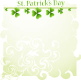 St. Patrick's Day background with clover Royalty Free Stock Photo