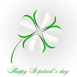 St Patrick's day background with clover. St Patrick's day background with clover on white Royalty Free Stock Photo
