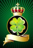 St. Patrick's day background with crown Royalty Free Stock Image