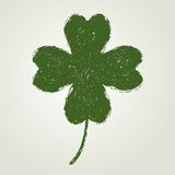 St. Patrick's day background with four leaf clover Stock Images