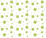 St. Patrick`s day background. Four leaf clover seamless texture. Symbol of luck, green shamrock backdrop Royalty Free Stock Photography