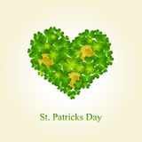 St. Patrick's day background in green colors. St. Patrick's day background in green and white colors Royalty Free Stock Photography