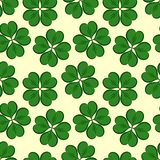 St. Patrick`s day background in green colors. Seamless pattern. Vector illustration stock illustration