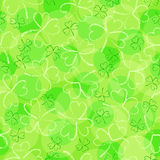 St. Patrick's day background. In green colors. Seamless pattern. Vector illustration Stock Photography