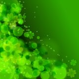 St. Patrick's day background in green colors. Vector illustration Stock Photography